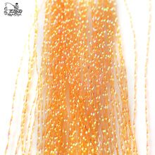 Fly Tying Material Flashabou set 6 Pcs Hareline Holographic Krystal Flash Tinsel Crystal String Lure Making Fly Tying Supplies