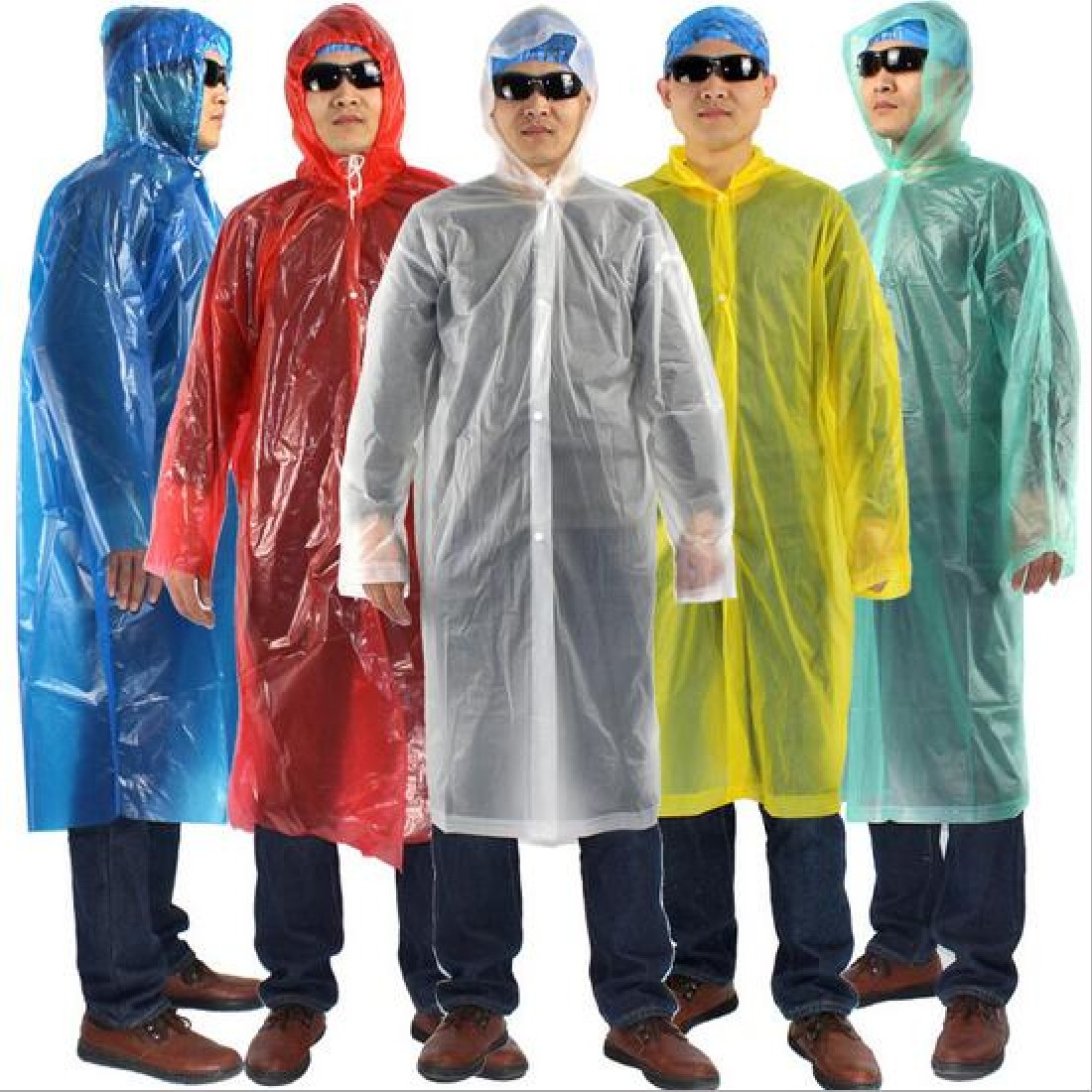 Outdoor rain jacket Travel Camping Emergency Disposable Raincoat Adult Unisex One-off Wa ...