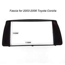 ITYAGUY Doble Din Fascia 2DIN para TOYOTA Corolla 03-06 Radio CD Panel Frame Stereo Facia Dash Instalación de Montaje Kit de ajuste