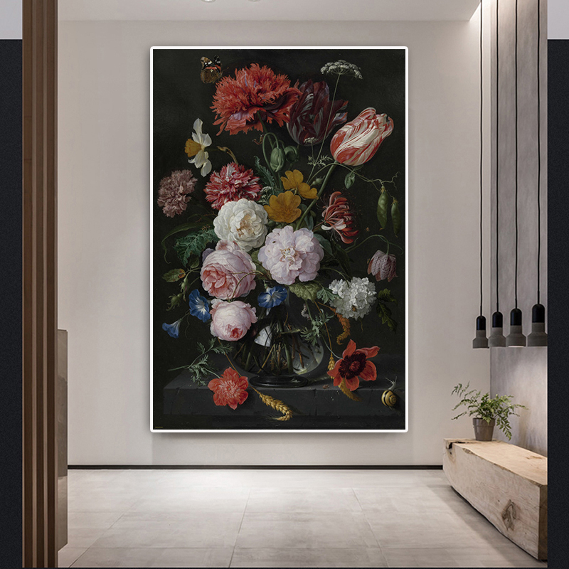 Classic Roses Oil Painting On Canvas Art Cuadros Valentine's Day Decor Posters And Prints Nordic Wall Picture For Living Room