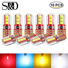 10Pcs T10 LED Car Light 168 194 501 WY5W W5W Bulb Replacement Interior Dome Map Door Courtesy License Plate Lights White