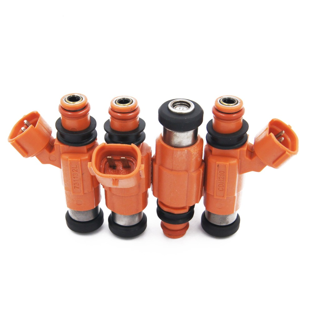 4pcsFLOW MATCHED CDH210 0280155723 INP771 MD319791 Fuel Injectors for Chevrolet Suzuki Dodge Chrysler Yamaha outboard Mitsubishi