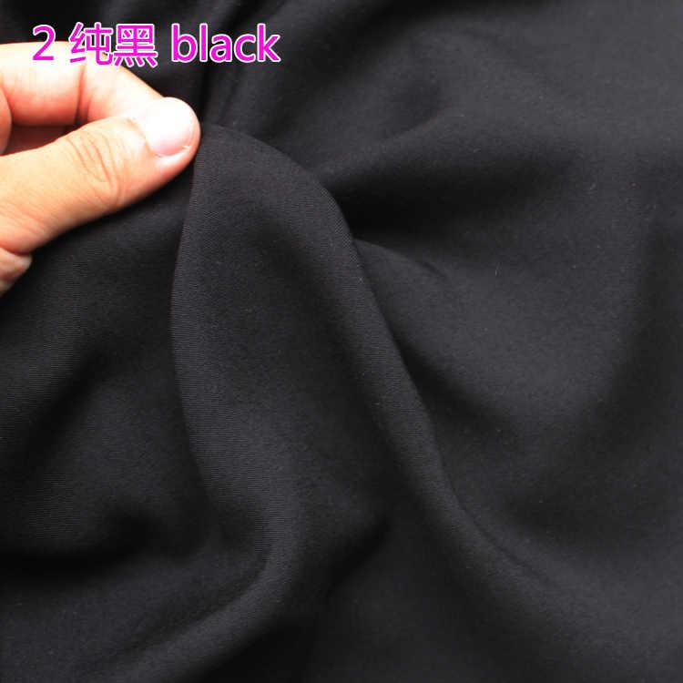 """Czarny tkanina wiskozowa tkanina bawełniana tkanina jedwabna sztuczna tkanina spódnica tkanina 60 """"szerokości sprzedawane przez stocznię bezpłatna wysyłka!"""