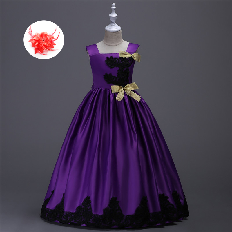 Kids Princess Prom Dresses Children Ball Gowns Little S Party Dress Green Purple Yellow Christmas Red For In From Mother On