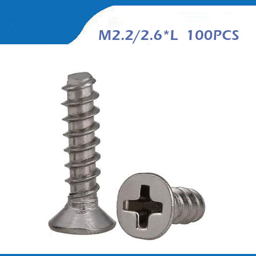 Countersunk head flat head self tapping flat tail <font><b>screws</b></font> M2.2 <font><b>M2.6</b></font> <font><b>screws</b></font> 304 stainless steel self tapping <font><b>screw</b></font> image
