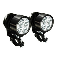 High Quality 2X Universal Motorcycle Motorbike Osram LED Front Spot Light Headlight Lamp 12 24V