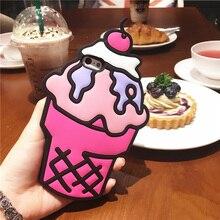 3D Cartoon Ice Cream Stitch Cat Soft Silicone Back Cover For iPhone 4/4s/5/5S/5C/SE/6/6S/6 6s Plus/7/7 Plus Phone Cases
