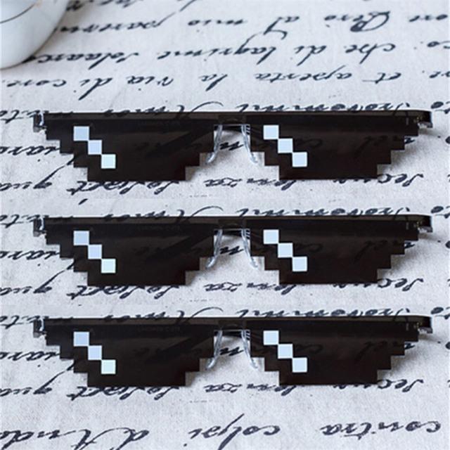 Venda quente Lidar Com Isso Óculos Mulheres Homens do Retângulo óculos de Sol Mosaico poligonal thug life Masculino 8 Bits Pixel Óculos de Sol