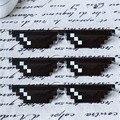 Venta caliente Abordarlo Gafas Mujeres Hombres Rectángulo thug life poligonal gafas de Sol Mosaico Masculino 8 Bits Píxeles Gafas de Sol