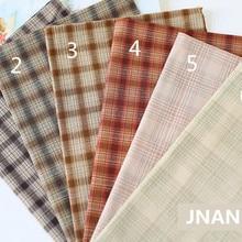 DIY Япония маленькая ткань группа окрашенная пряжа ткань, для шитья ручная работа пэтчворк Квилтинг, сетка полоса точка 50x70 см 240 г/м