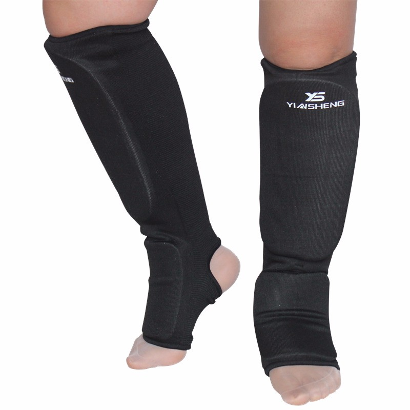 Cotton Boxing shin guards MMA instep protectors foot protection TKD kickboxing pad Muaythai Training Leg support protectors