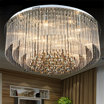 Modern Round Crystal Ceiling Lights Fixture D80cm Luxury Home Indoor Lighting European Foyer Bed Room Lamps Ac90v 260v In From