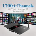 Europe Iptv Box Free 1700 IPTV Subscription Arabic UK Sky Italy French Germany Russia Channel with Android TV Box Media Player