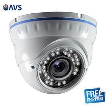 "1/3"" CMOS 1080P 2.0MP LED IR Vandal-proof 2.8-12mm Manual Varifocal Lens Security Metal Dome Camera"
