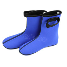 3MM Neoprene Diving Boots Black/Blue Scuba Surfing Swimming Socks Water Sports Snorkeling Diving Socks