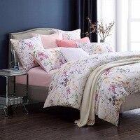 Fadfay Luxury Egyptian Cotton Bedding Set Floral Print Design Satin Duvet Cover Sets Oriental Vintage Style Bed Linen Bedclothes