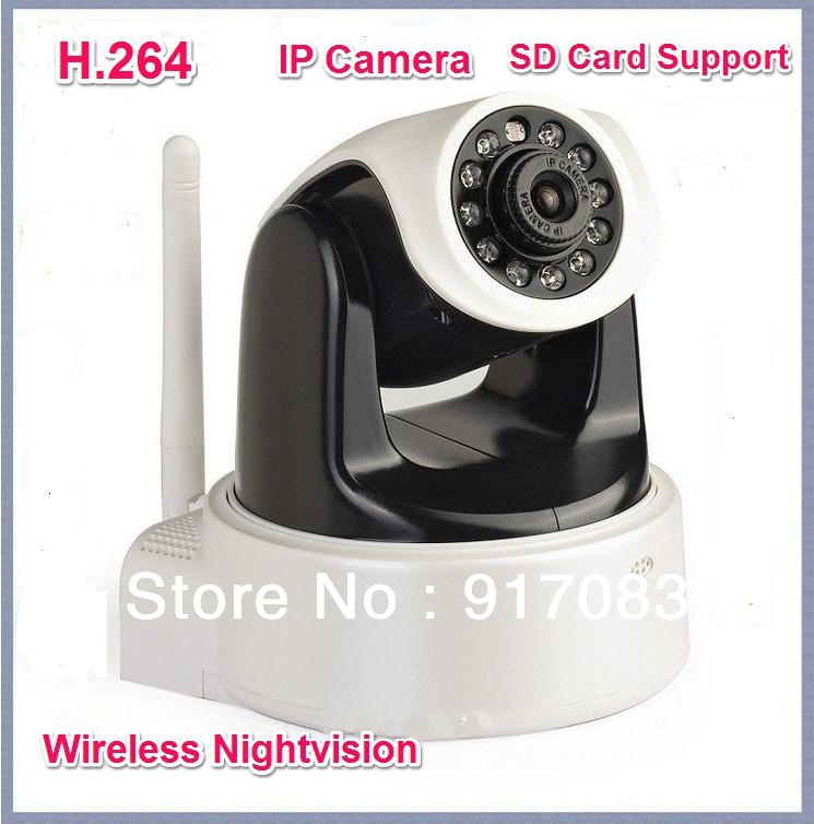 Wifi Wireless IP Camera HD 1.0 Mega Pixels H.264 With IR-cut SD Card Slot Apple Android Windows System Support non standard die cut plastic combo cards die cut greeting card one big card with 3 mini key tag card