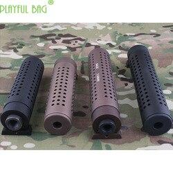 Actividad al aire libre CS 14mm tapa de diente inverso KACQD M4QD pistola de bala de agua mejora Material silenciador decoración AK105 MI51
