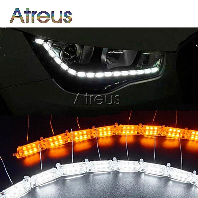 Atreus 50 cm Voiture LED Cristal d'eau lampe DRL led Lumières 12 V Pour Volkswagen VW Polo Passat B5 B6 Audi A6 A4 B6 BMW E46 accessoires