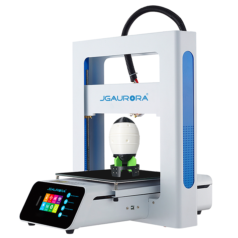 JGAURORA A3S 3D Printer Easy Assemble Color Touch Screen 205x205x205 Resume Print SD Card Printing Free