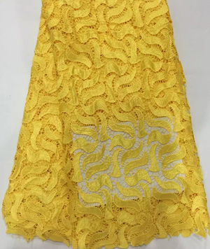 JYL235(1) newest swiss lurex cotton high quality african cord lace african lace fabrics high quality for weeding in pure yellow