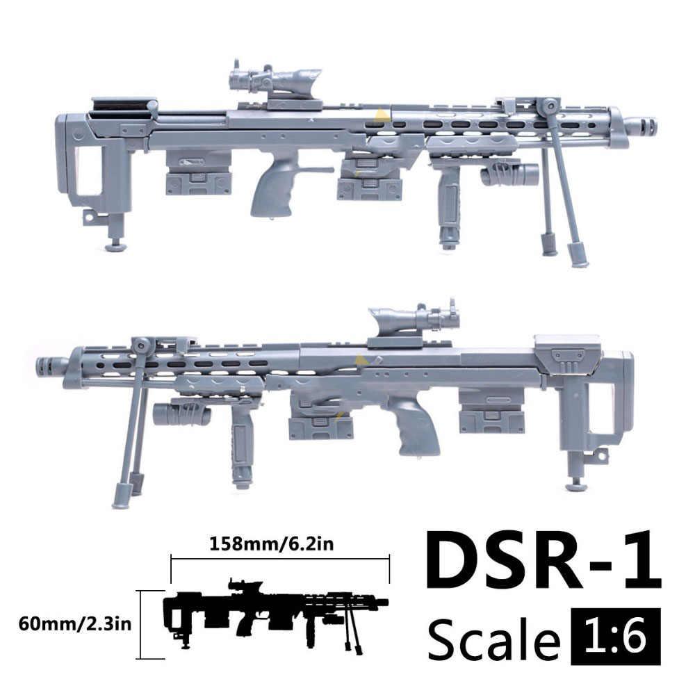 1:6 1/6 skala 12 cal Action Figures DSR-1 Siper karabin model wojskowy pistolety żołnierz komponent 1/100 MG Bandai Gundam DIY prezent