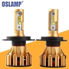 Oslamp T6 H4 H7 H11 9005 9006 H13 водить автомобиль Фары для авто 6500 К 70 w/pair Hi-Lo/один луч автомобильной фары Противотуманные Лампа 12 В 24 В