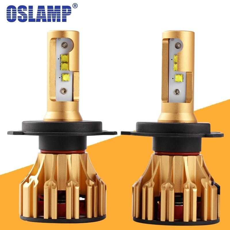 Oslamp T6 Serie H4 H7 H11 9005 9006 LED Del Faro Dell'automobile Lampadine 6500 k 70 W/Pair Hi-lo Singolo fascio Automobile Faro Ha Condotto La lampada 12 v