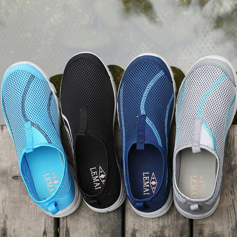 LEMAI 16 New Cool Athletic Men Sneakers Summer Breathable Mesh Sport Shoes For Men Outdoor Super Light Running Shoes FB013 11
