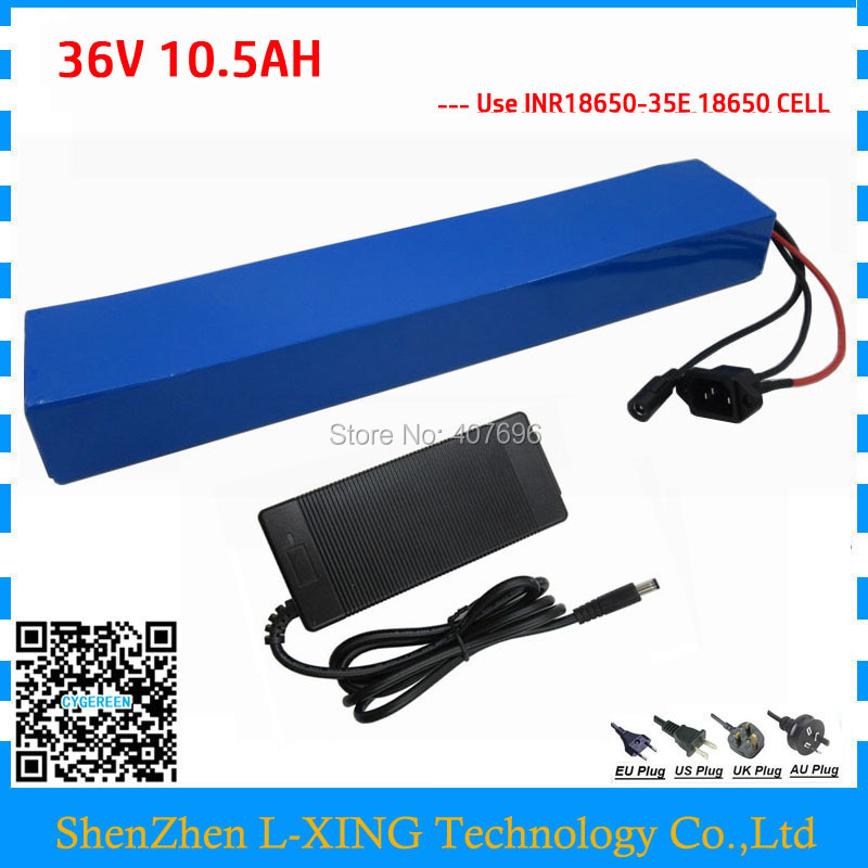 36Volt 10AH Electric Bike battery 36V 500W 10.5AH Lithium ion battery use for samsung cell with BMS 2A Charger Free customs fee ks v2 welcom chime bell sensor