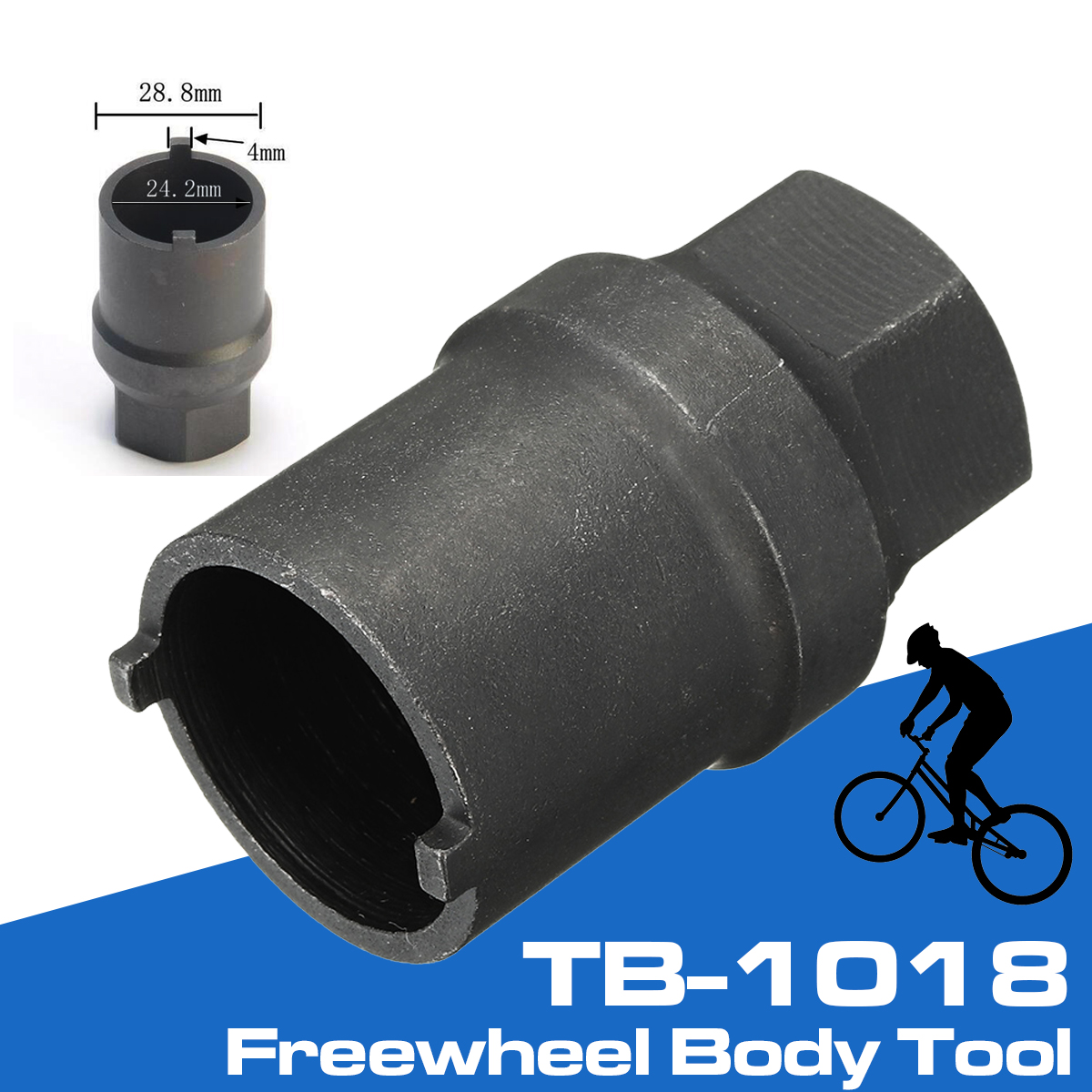 TB-1018 Freewheel Body Hub Cassette Remover Tool Black for Shimano Bicycle