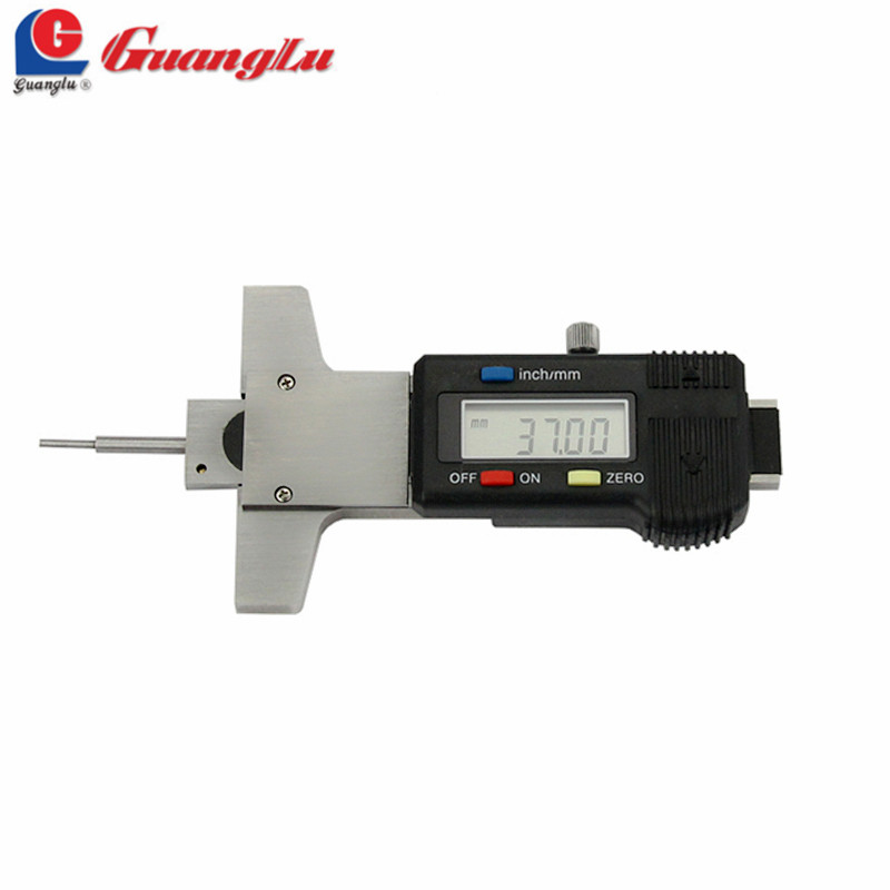 GUANGLU Depth Gauge Digital Caliper Tire Thread 0-30mm/0.01mm Electronic Digital Gage Instruments Measuring Tools car tire digital tread depth gauge