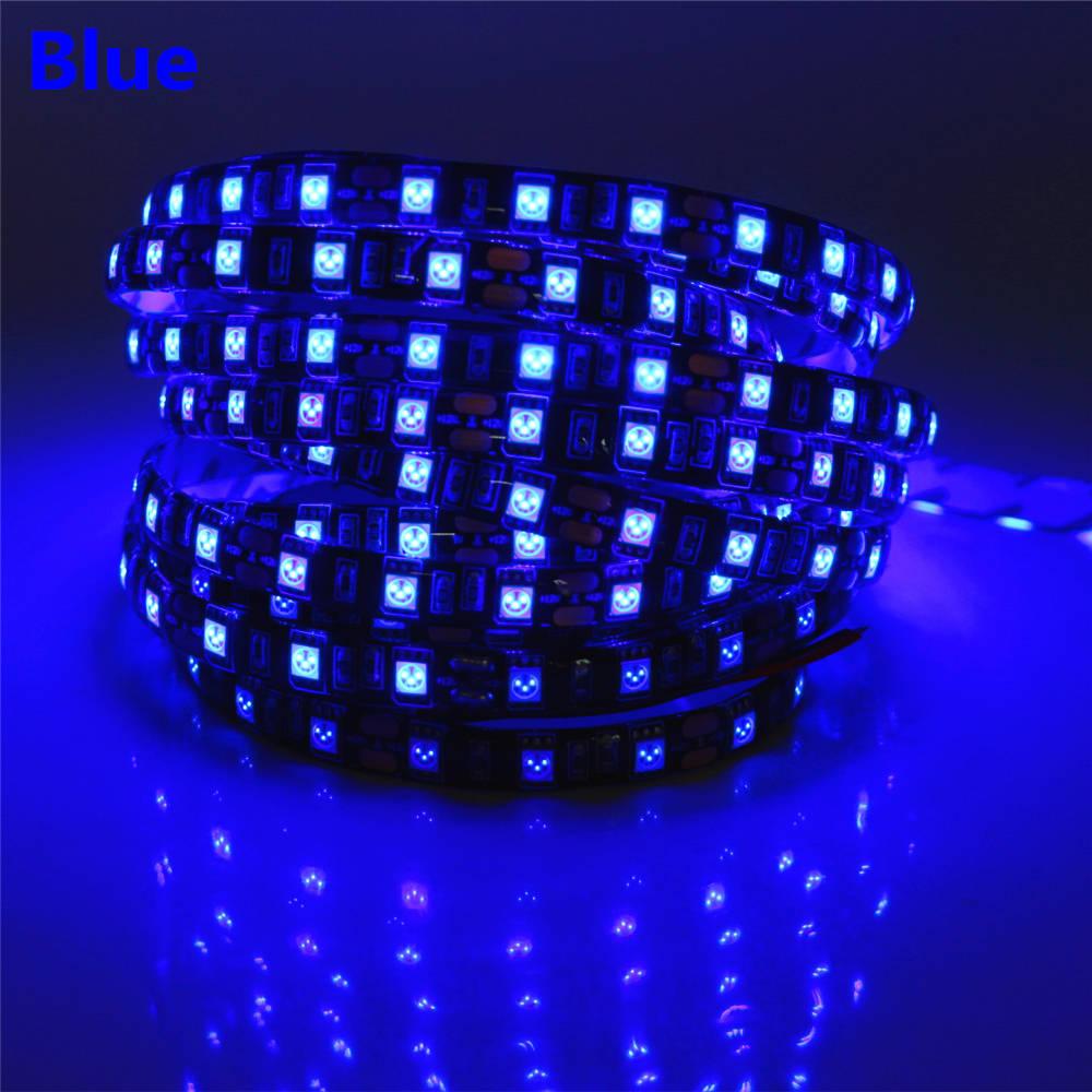 50cm 1m 2m 3m 4m 5m 12V LED Strip 5050 Black PCB Flexible LED Ribbon Light 60LED/m LED Tape RGB/White/Warm White/Blue/Green/Red