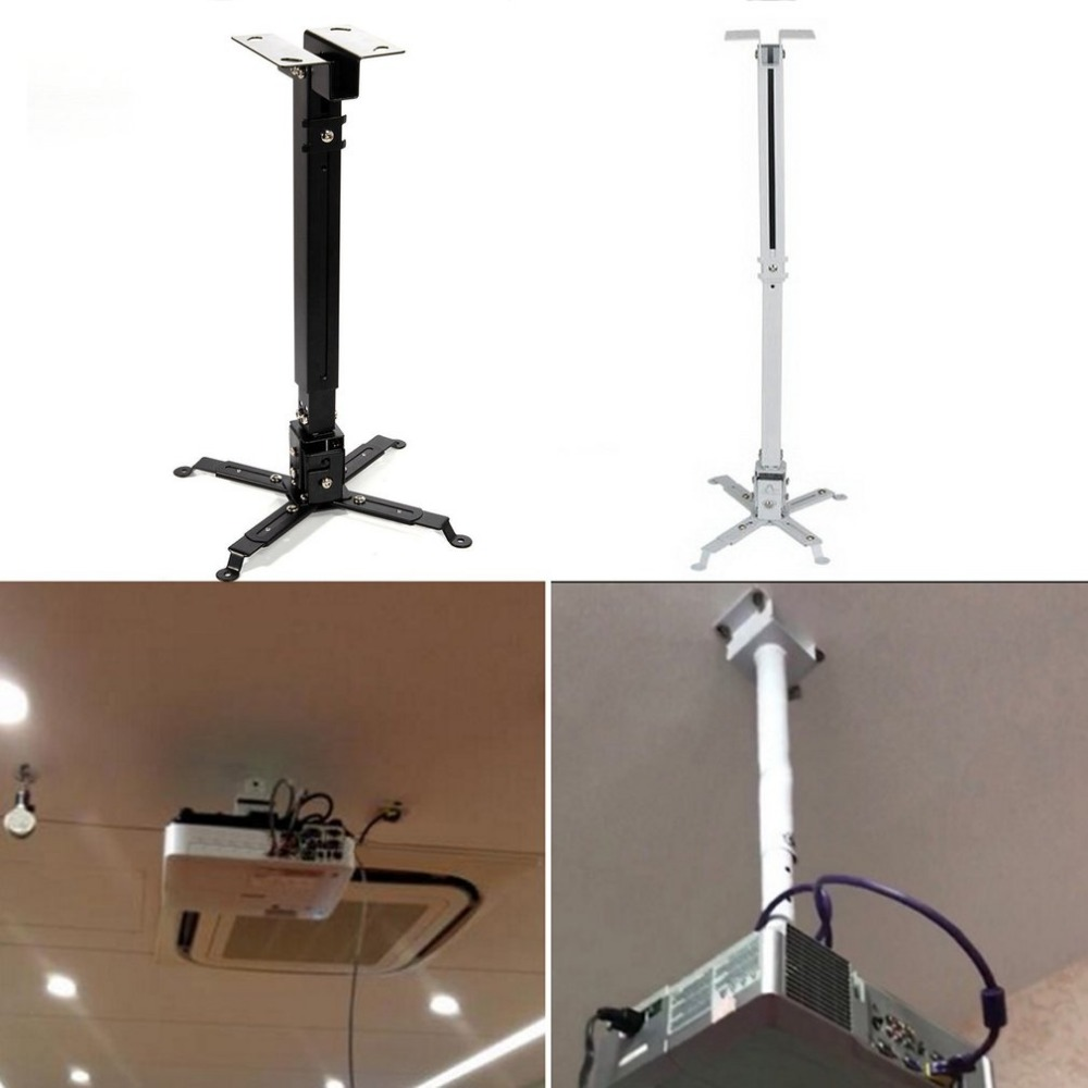 Durable Projector Ceiling Bracket Universal LED Projector Bracket Holder Adjustable 43-65CM Hanging Bracket Swivel Mount Holder(China)
