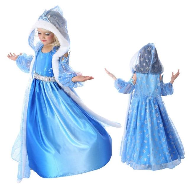 2c4cb4b7e3623 Anna Dress Girls Costumes Diamond Princess Elsa Dress Disfraz Princesa  Congelados Vestido Ana De Festa Fantasia