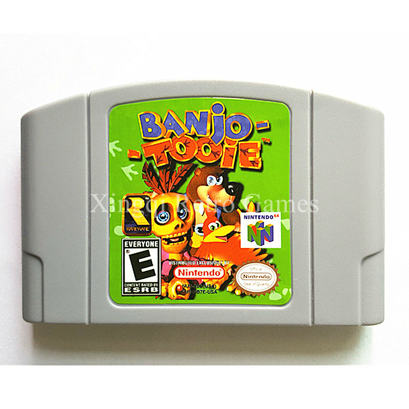 Nintendo 64 Game Banjo Tooie Video Game Cartridge Console Card English Language US Version