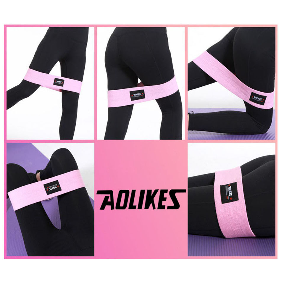 AOLIKES Hip Circle Loop Resistance Band in Non Slip and Non Roll Design for Legs and Thigh 5