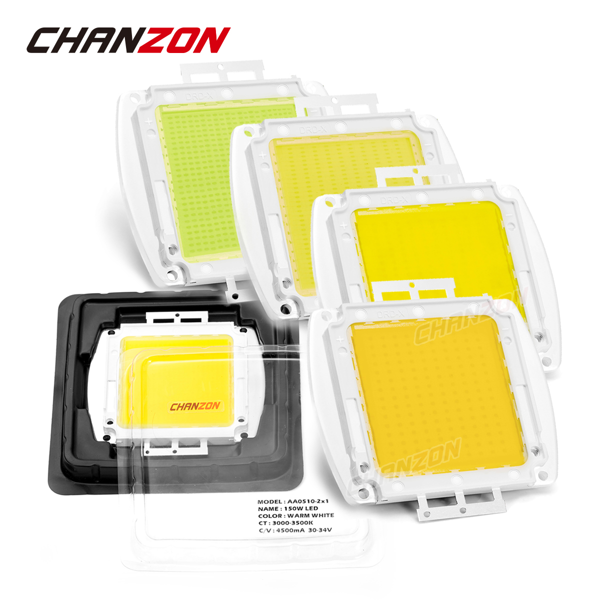 CHANZON High Power LED SMD COB Bulb Chip 150W 200W 300W 500W Natural Cool Warm White 150 200 300 500 W Watt for Outdoor Light high power led chip 1w 3w 5w 10w 20w 30w 50w 100w watt warm pure cool white light bulb matrix lamp smd cob 3000k 6000k 15000k