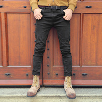 Black Skinny Jeans Men Solid Denim Ripped Jeans For Men New Casual Stretch Man Balmai Jeans100