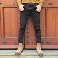Черные узкие джинсы мужчины твердые джинсовой рваные джинсы для мужчин новый случайный стрейч человек balmai jeans100 % Хлопок pantalon homme джинсы 2016
