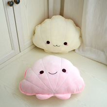 Cartoon Macaron Style Marine Shell Plush Toy Pillow Baby Comfort Childrens Room Decoration Home