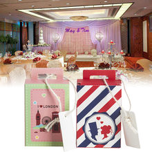 10pcs/lot Wedding Candy Boxes Suitcase I Love London Design European Wedding Favors Gift Box Wedding Party Favor Decoration(China)