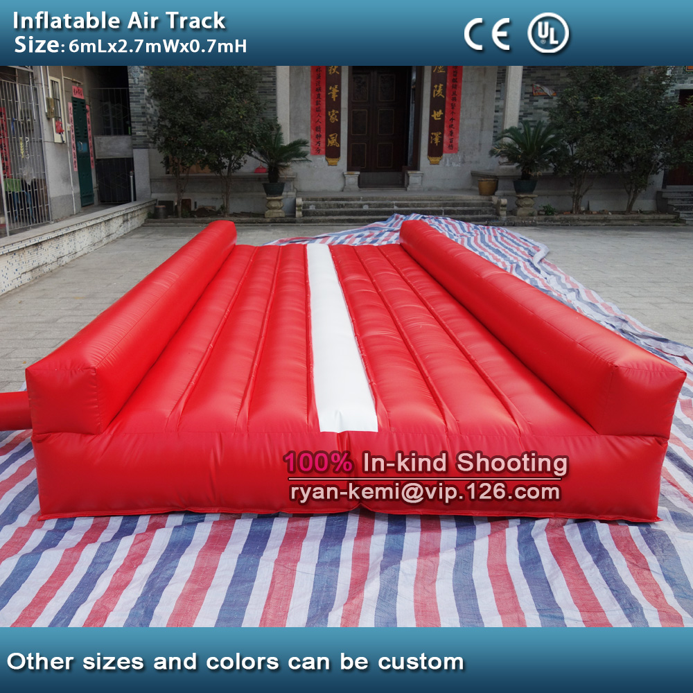 Free shipping 6m 20ft inflatable air track inflatable tumble track gymnastics inflatable air mat for gym free shipping 6 2m inflatable tumble track trampoline air track gymnastics inflatable air mat come with a pump