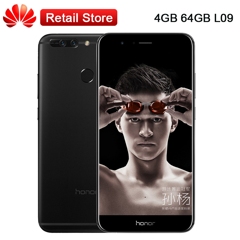 Global Huawei Honor V9 L09 Mobile Phone 5 7 4GB RAM 64GB ROM 2K Screen Kirin