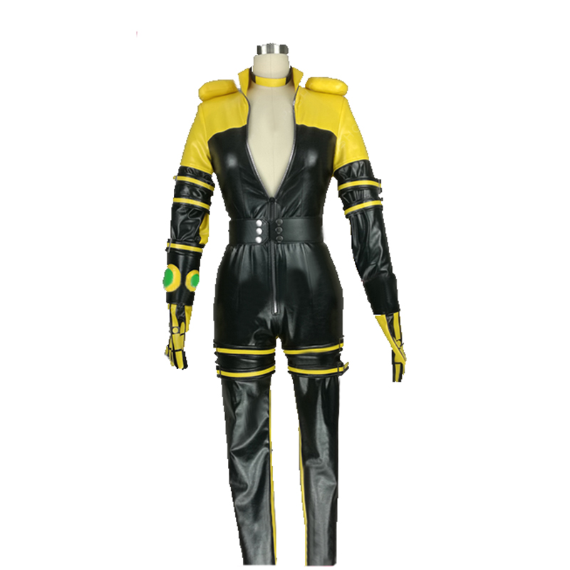 The King of Fighters KOF Lien Neville Cosplay Costume with gloves