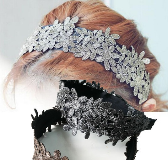 2021 New Arrival freeshipping wholesale fashion floral lace embrodery hairbands popular hair accessories