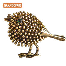 Blucome Vintage bird Brooches Lovely Little Birds Dress Collar Suit Sweater Banquet Decoration Women Brooch Hijab Pins jewelry