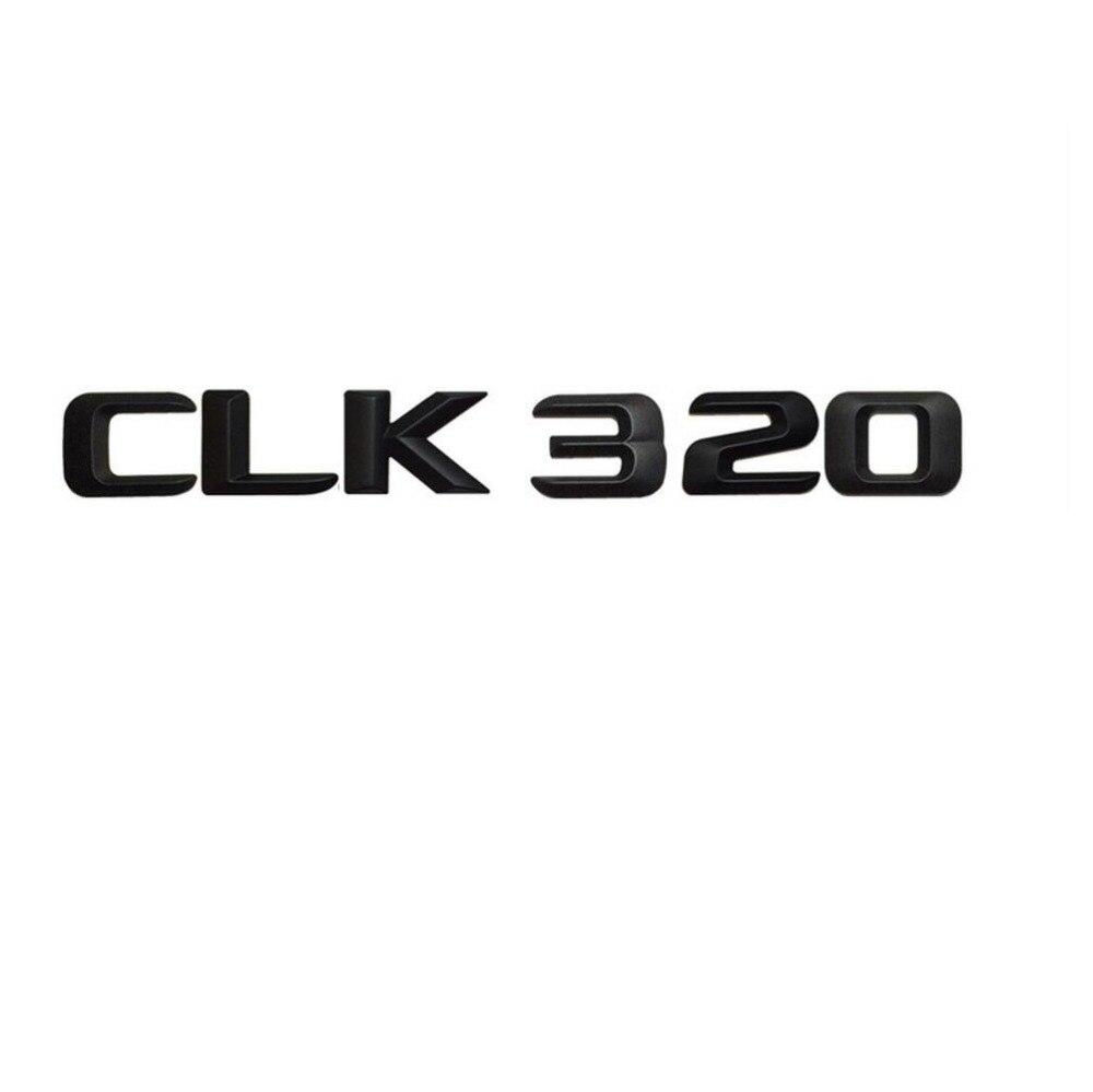 Gloss Black ABS Number Letters Emblem Sticker for Mercedes Benz CLK Class CLK320