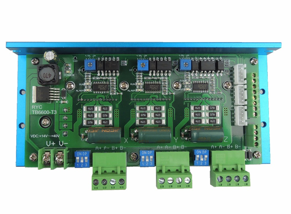 Quality Assurance CNC TB6600 3 Axis 4.5A Stepper Motor Driver Board For Engraving Machine #RYC TB6600-T3 stepper motor driver board motor driver tb6600 cnc 4controller cnc motor driver module for engraving machine