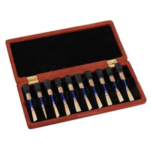 Yibuy Amber Color Natural Wood Oboe Reed Case Protector Holds 20pcs Oboe Reeds